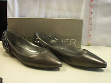 Marc Fisher New Womens Beyond Pewter Leather Flats 7 M Shoes