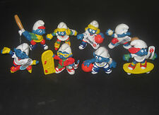 LOT OF 8 SPORTS SMURF SPORTS PVC ACTION FIGURES