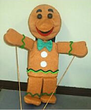 Large Gingerbread Man Ventriloquist Puppet-ministry, preschool, education-NEW