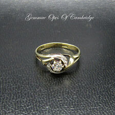 9K Gold 9ct Gold Diamond Ring Size K 1.4g 0.2ct Diamond