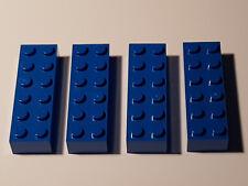 Lego 4 X 2456 Básico Piedra 2 X 6 Azul 4181139 (#Ac17) 44237 Blue City