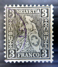 SWITZERLAND 1862 - 3F SG53 Fine/Used NB3103