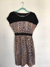 Zara basic Ladies Snake print dress with Elasticated waistband size M