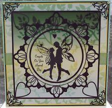 HANDMADE PAGAN FANTASY BELTANE HANDFASTING WEDDING ANNIVERSARY CARD FAIRY COUPLE