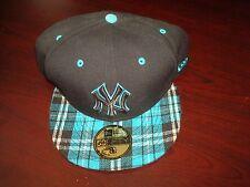 NEW YORK YANKEES PLA  BASEBALL NEW ERA FITTED 8 1/4 SCRIPT VINTAGE 90'S HAT CAP