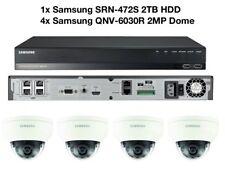 Samsung 4x Vandal-Res Network Dome HD 1080p SRN-472S 2TB NVR PoE Full CCTV Kit