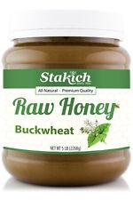 5lb Buckwheat 100% USA Pure Natural Raw Honey Best Fresh Gluten & Fat Free Bee