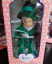 NEW Effanbee Patsyette Porcelain MUNCHKIN BOY Wizard Of Oz DOLL & Stand In BOX