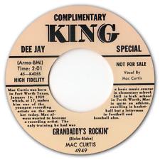 "MAC CURTIS - ""GRANDADDY'S ROCKIN"" c/w ""HALF HEARTED LOVE"" - BLACK VINYL - LISTEN"