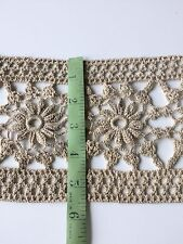 Antique Handmade Lace Flounce Wide  Trim Yards Yardage Primitive  Edging Sewing