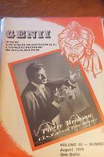 Vintage Genii Magazine Pierre Brahma Fism Winner 1976 Issue