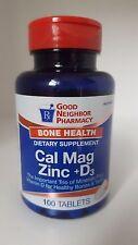 Gnp Calcium Magnesium Zinc+D Tablet 100ct