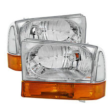 Ford 99-04 F250 F350 SuperDuty/Excursion Replacment Headlights Amber Bumper