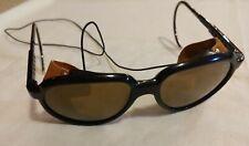 Vintage BOLLE L.L. BEAN Sunglasses * Glacier Arctic Leather Side Sports Glasses