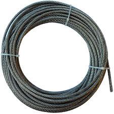 12mm FUNE ACCIAIO ZINCATO filo metallo corda cavo cima galvanizzato 1m 100m