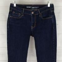 Old Navy womens size 6 stretch blue dark wash mid rise curvy bootcut denim jeans