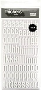 """American Crafts Thickers 5.5""""x11"""" Daiquiri Foam Stickers Alphabet Numbers White"""