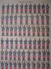 Image d'épinal Fanfare de DRAGONS Baryton Tambour Trombone Planche numéro 232