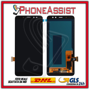 DISPLAY LCD PER Samsung Galaxy A8 2018 SM-A530F A530 TOUCH SCREEN SCHERMO NERO