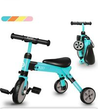 2 in 1 Kids Tricycles for 2 3 4 Years Old and Up Boys Girls Tricycle Kids Trike