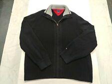 Tommy Hilfiger Mens XL Zippered Sweater Black