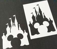 Disney Themed MICKEY MOUSE CASTLE Silhouette Stencils Party Decoration Art Craft