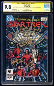 Star Trek #1 DC SS CGC 9.8 Shatner Takei Koenig & Nichols 1984 Free Shipping WP