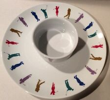 House of Prill Single Serve Stacking Tea Pot Cup Saucer Set Women Men Golf Swing