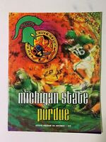 1970 Michigan State Spartans vs Purdue Boilermakers Football Program EXCELLENT