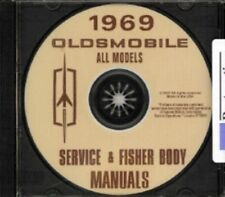 OLDSMOBILE 1969 Shop & Body Manual CD Toronado, 98, 88, Cutlass, 442 & F-85