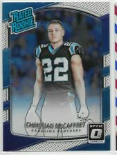 CHRISTIAN MCCAFFREY RC 2017 Donruss Optic #168 Rated Rookie Base Panthers