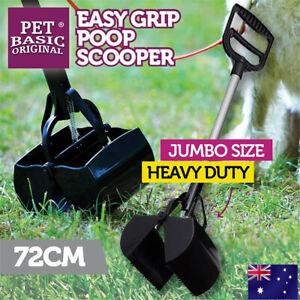 Pet Pooper Scooper Toilet Training Easy Squeeze Handle Dog Waste POO Pickup 72CM