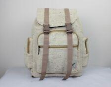Hemp backpack Unisex Vegan rucksack boho hippie casual travel hike bag Ecofriend