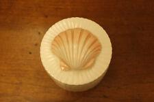 """Fitz and Floyd Vintage Lidded Pink Seashell Trinket Box 3.5"""""""