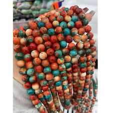 Stone DIY Round Spacer Loose Beads 6MM Natural Gemstone Colorful Jewelry Making