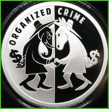 2019 1oz Organized Crime Proof Silver Shield USSA 2020 Series #3 ***