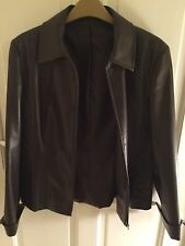 Ladies Brown PVC Zip Up Jacket - Next Size 12