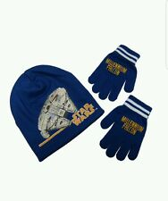 Star Wars Millennium Falcon Beanie and Glove Set New