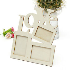Love Wood Hollow Out Photo Frame Anniversary Wedding Photos Holder Home Decor