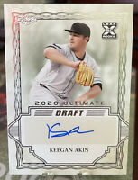 Keegan Akin RC Auto 2020 Leaf Ultimate Draft Baltimore Orioles BA-KA1