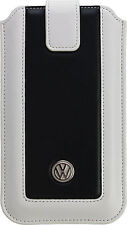 Volkswagen Leder Handy Tasche Dual Leather Weiss / Schwarz Apple iPhone 8