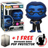 FUNKO POP VINYL MARVEL X-MEN BEAST FLOCKED #643 EXCLUSIVE FIGURE + PROTECTOR