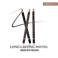 12pc Long Lasting Eye Brow Pencil Black Brown Eyebrow Pen Makeup Tool Waterproof
