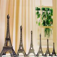 New Bronze Tone Paris Eiffel Tower Figurine Statue Vintage Model Decor Alloy WT