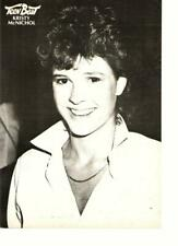Kristy Mcnichol teen magazine pinup clippings Teen Beat 1970's black & White