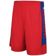 MLB Majestic Red Philadelphia Phillies Defiant Performance Synthetic Shorts