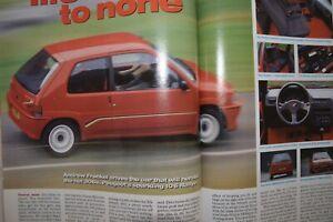 "Peugeot 106 Rallye 1.3 S1 1993 ""Autocar"" Road Test Magazine"