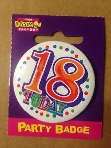Birthday Celebration Party Badge 18 today