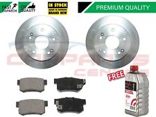 FOR HONDA CIVIC TYPE R EP3 REAR BRAKE DISCS AND PADS FREE BREMBO BRAKE FLUID