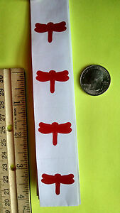 ~~~~~~ 50 ~~~~~~  RED DRAGONFLY TANNING STICKERS - CRAFTS